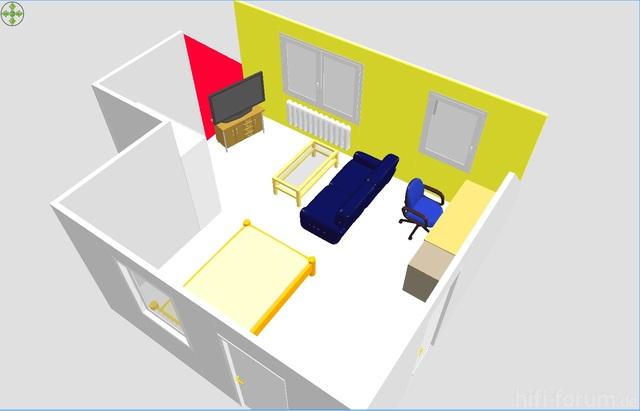 Sweet Home 3D - Zimmer 1