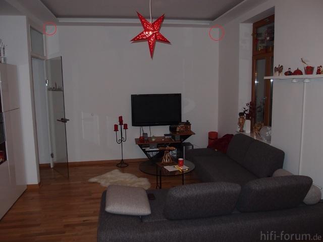 Wohnzimmer Mit Kreisen In Dem Ecken