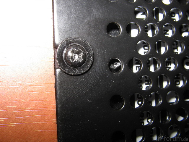 Unterseite Abdeckung - Gitter
