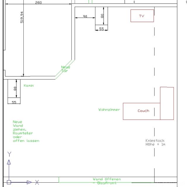 Rohbau Wohnzimmer 2