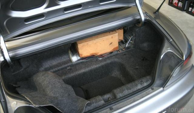 Kofferraum Ansicht