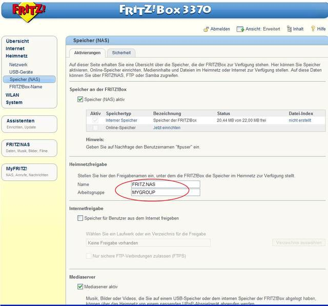 Fritzbox 3370