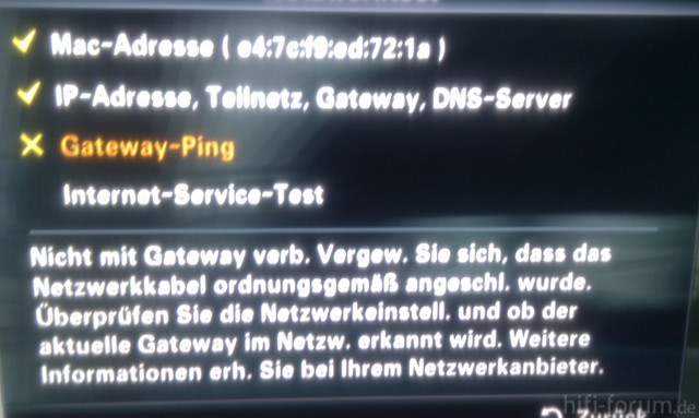 Fehlermeldung Samsung LCD