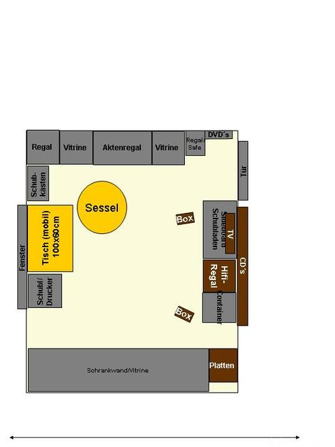 Büroplanung Grundfläche 4x3m
