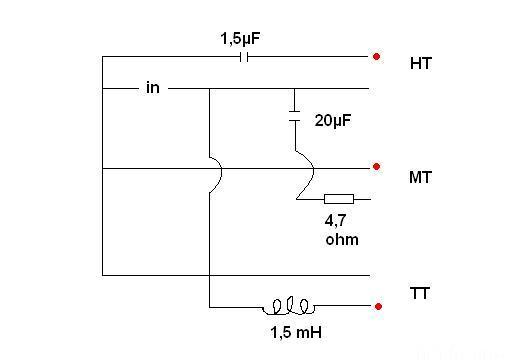 Frequenzweiche Isophon