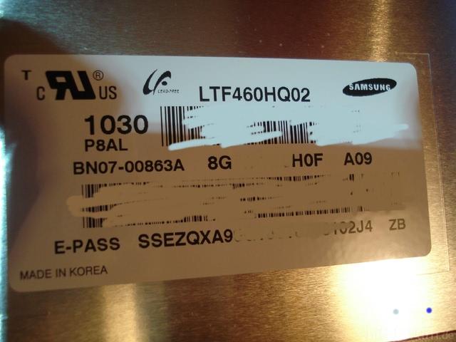 Panelaufkleber UE46C7700