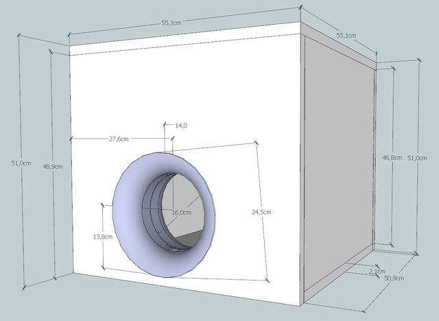 db drag subwoofergeh use berechnen und bauen f r 2x blaupunkt vpw380 car hifi subwoofer. Black Bedroom Furniture Sets. Home Design Ideas