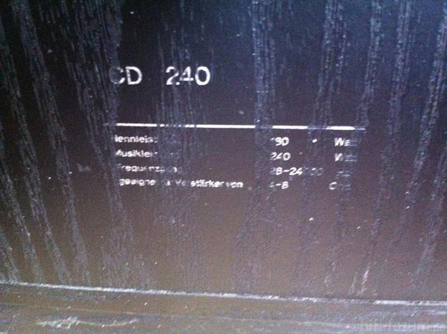 Lautsprecher CD 240 Daten