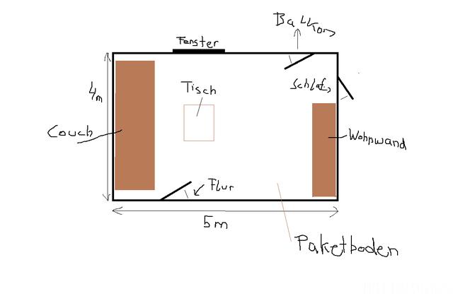 Wohnung Skizze