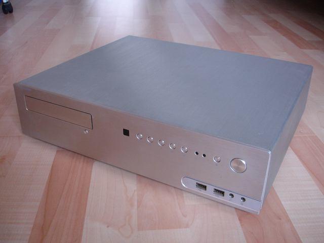 Aluminium Htpc Gehäuse Im Hifi Baustein Format Ms Tech Mc1200 Mit