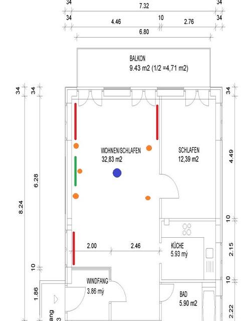Skizze Wohnung Mit 5.1 Aufstellung