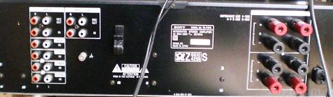 Sony TA F 270 Ruckseite