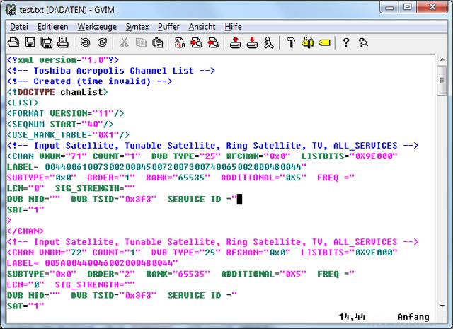 SaveError XML
