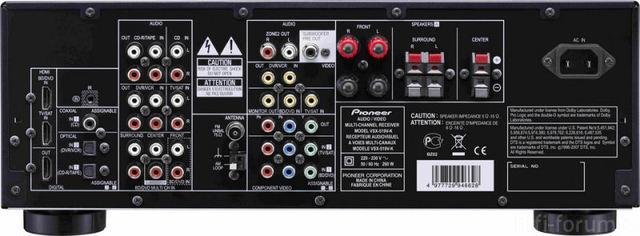 Pioneer VSX 519 Back