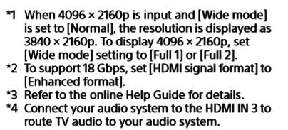 Sony XH95 Videosignale 2