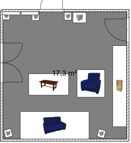 2D-Ansicht Wohnzimmer