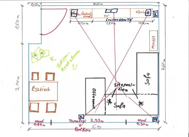 Draufsicht Wohnzimmer Mit Details