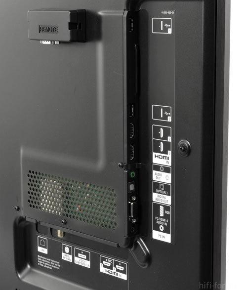 Sony Bravia XBR 46HX929 Back Inputs