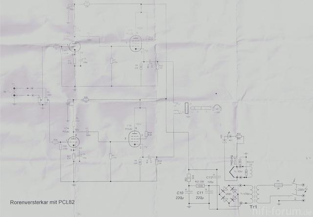Schaltplan Röhrenverstärker