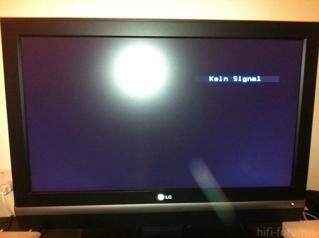 """""""Kein Signal"""" Bild 32LC2R"""