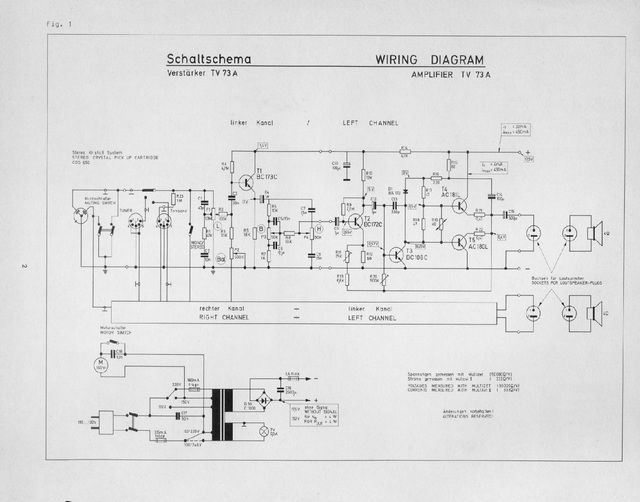 Reparaturhilfe: Dual Plattenspieler HS 37 bzw. Verstärker TV 73 ...