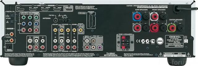 Onkyo TX SR507 Noir D 1200