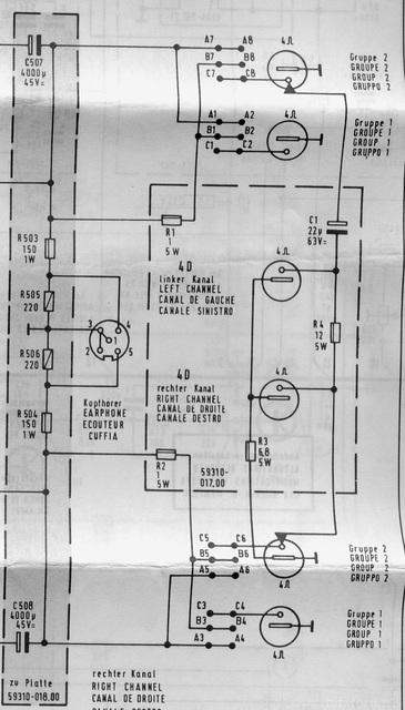 Grundig RTV900 Lautsprecherbuchsenbeschaltung