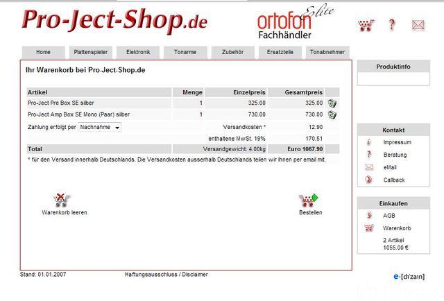 Pro Ject Shop
