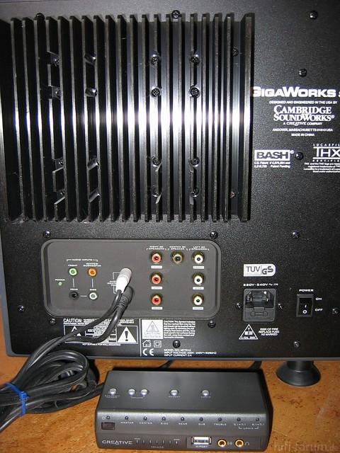 Rückseite Subwoofer S750 Creative