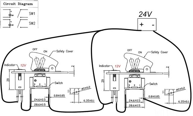 Kfz Bedienpannelschaltung Für 24 V