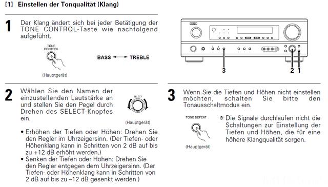 AVR 1603 Tonqualität Einstellen