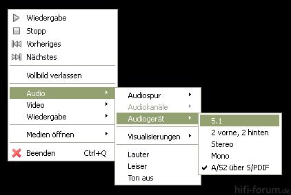 VLC Player 5 1 Oder SPDIF Einstellen