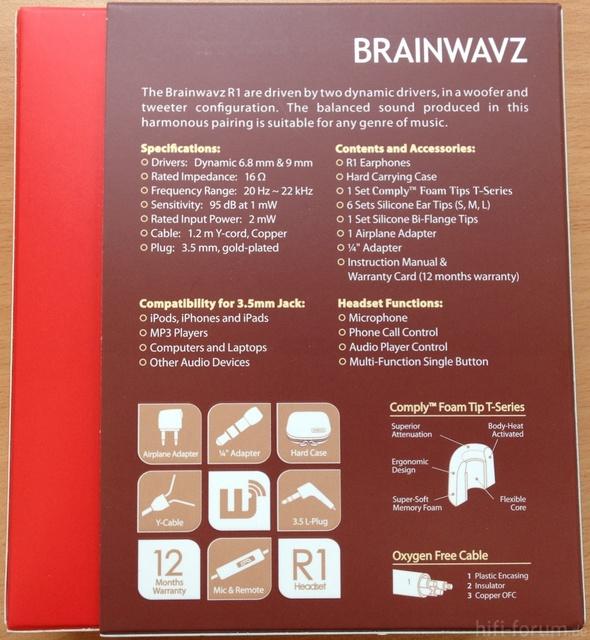 Brainwavz R1 Rückseite