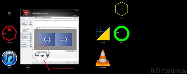 Screen Des Catalyst Control Centers Mit Receiver
