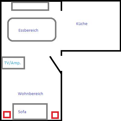 Wohn/Esszimmer & Küche