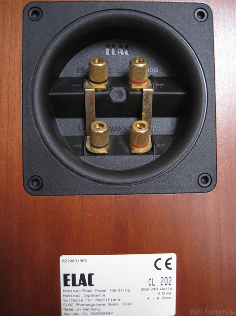 Typenschild ELAC CL 202