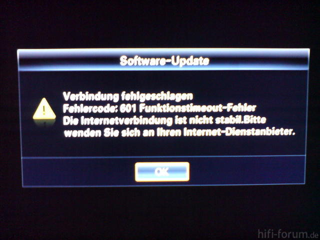 Fehlermeldung Bei Manuellen FW-Update