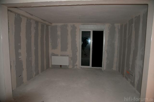 Wohnzimmer Rohbau