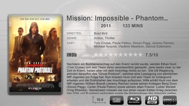 Mission Impossible   Phantom Protokoll3 Sheet