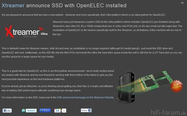 SSD Mit OpenElec