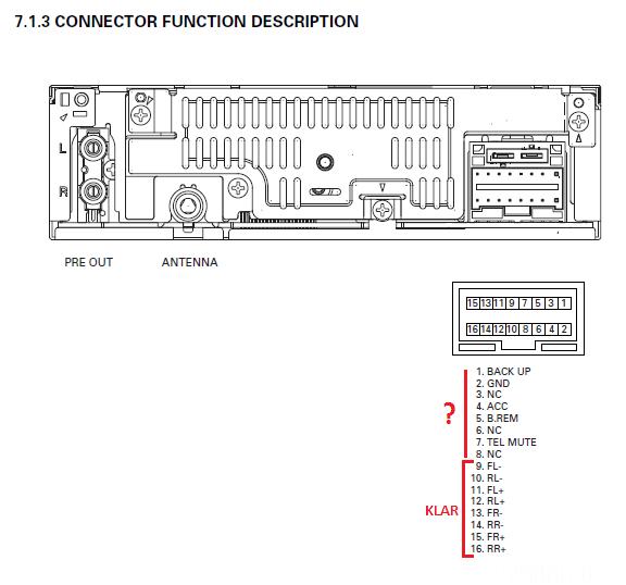 Ausschnitt Aus Dem DEH-2300r Service Manual