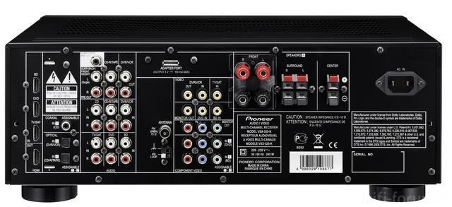 Pioneer VSX-520 R?ckseite