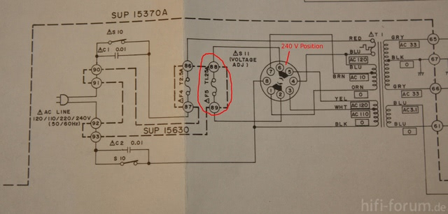 Technics SU-8055 Sicherung 1,25 A fliegt raus. Habe Schaltplan ...