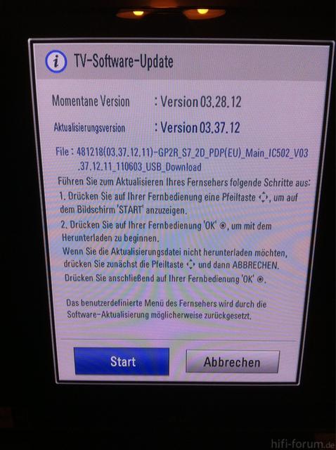 Firmware Update 50PV350