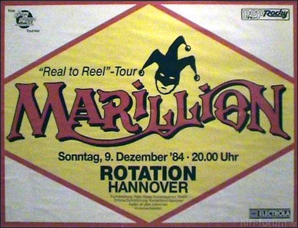 Marillion Poster Hannover 09 12 1984
