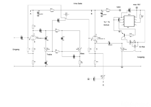 Vorverstärker Braun CSV13 Links 120V