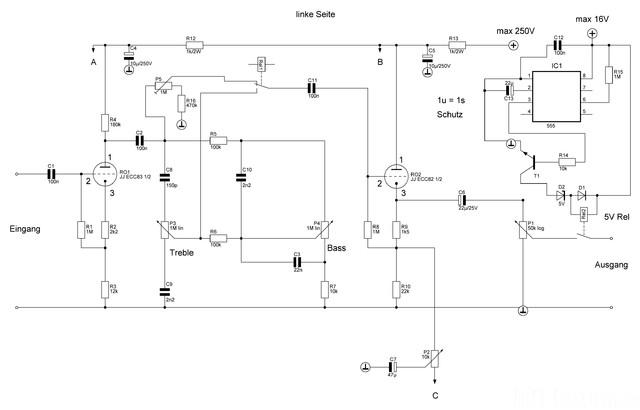 Vorverstärker Braun CSV13 Links
