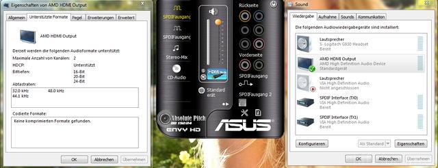 Soundeigenschaften Screenshot