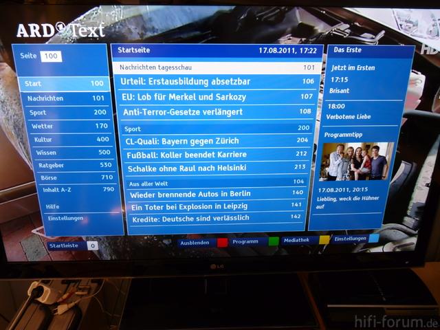 LG 55LW659S HbbTV Mit ARD HD