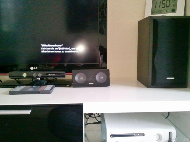Front LS Kenwood, Canton Center, Kinect Sensor, XBOX Und TV